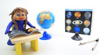Blue Baby in LEARNING PLANETS - Green Baby Stop Motion Cartoons For Kids