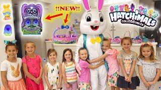 Huge Hatchimals Easter Egg Hunt! Toy Scavenger Hunt with Easter Bunny in Real Life!!!