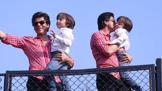 Shahrukh Khan 53rd Birthday Video with Abram Khan At Mannat | SRK Birthday 2018 Celebrations
