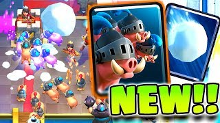 "New ""ROYAL HOGS"" + ""GIANT SNOWBALL"" UPDATE GAMEPLAY - Clash Royale"