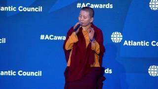 2017 Freedom Award Atlantic Council presentation to Ani Choying Drolma