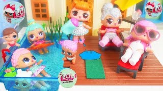Don't Wake Shimmer and Shine Game LOL Dolls Morning Bedtime Routine New Swimming Pool School Test!