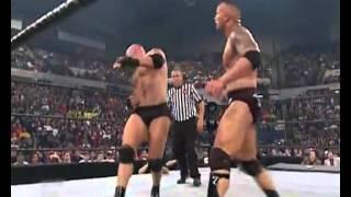 Goldburg vs The Rock Backlash 2003 Highlights