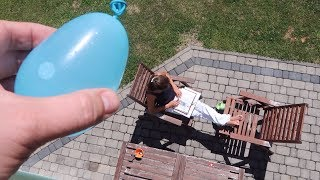 Falling Water Balloon Prank