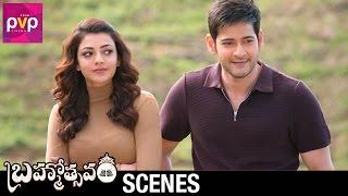 Mahesh Babu Entertains Kajal Aggarwal   Brahmotsavam Telugu Movie   Samantha   Pranitha