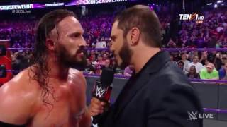 Austin Aries Official WWE Debut and Confronts Neville RAW 3/7/2017
