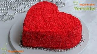 Kırmızı Kalpli Pasta ( Red Velvet Cake )