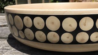 Woodturning a Holly and Milliput Inlay Bowl