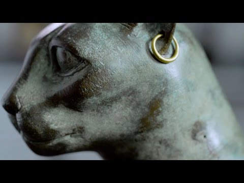 A 2,500-Year-Old Egyptian Cat With Earrings