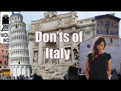 Visit Italy - The DON'Ts of Visiting Italy