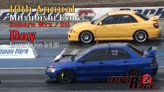 10th annual Mitsubishi EVO vs Subaru Wrx/Sti day