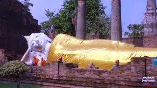 Thailand Bangkok Tempelanlage Ayutthaya Buddha Phra Chedi Chaimongkol Wat Yai Chai Mongkon The Wihan