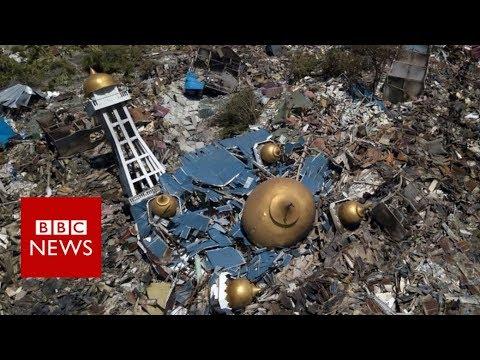 Xxx Mp4 Indonesia Tsunami Devastation Filmed From Above BBC News 3gp Sex