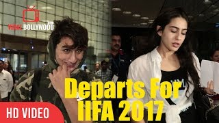Sara Ali Khan And Ibrahim Ali Khan | Saif Ali Khan Son And Daughter Departs For IIFA 2017
