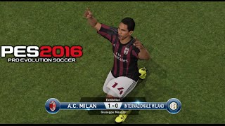 PES 2016 - Inter Milan vs AC Milan Gameplay PS4 (Italian Commentary)