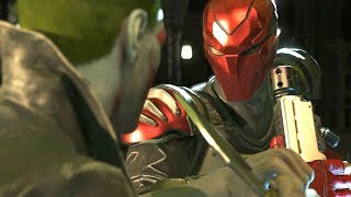 Injustice 2 - Red Hood Vs Joker - All Intro Dialogue/All Clash Quotes, Super Moves