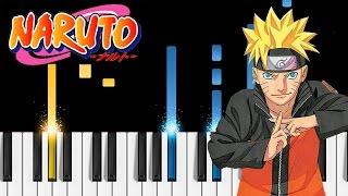 Naruto: Shippuden OP16 - Silhouette - Piano Tutorial - NARUTO -ナルト- 疾風伝
