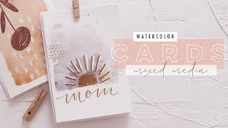 15 Minute Watercolor Cards | Messy Mixed Media EP 5