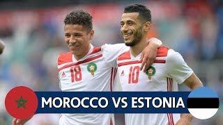 ملخص مباراة منتخب المغرب و استونيا | مباراة ودية 2018/6/9