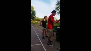 Racist white guy arguing with kids