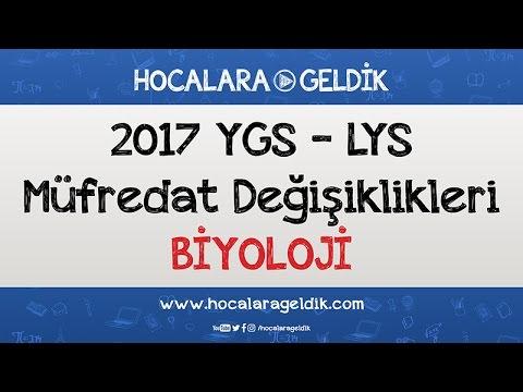 2017 YGS - LYS Müfredat Değişiklikleri - Biyoloji