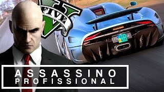 GTA V ASSASSINO PROFISSIONAL #23 - DANDO FUGA DE KOENIGSEGG REGERA NA ESTRADA ( GTA 5 Hitman MOD )