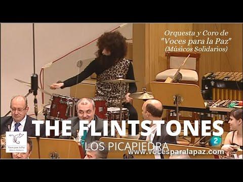 LOS PICAPIEDRA Theme song . Hoyt Curtin. Director Andrés Salado. Batería Luis Nieto