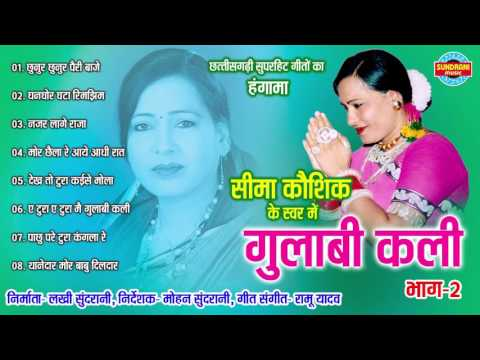 GULABI KALI BHAG - 2 - गुलाबी कलि भाग - 2 - Sima Kaushik - Audio Jukebox - Chhattisgarhi Geet