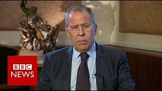 US protecting Nusra front to force regime change in Syria - Sergei Lavrov - BBC News