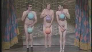 naked men and balloons