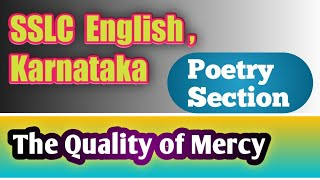 The Quality of Mercy : Recitation of the Poem ( For Pdf notes - WhatsApp -9900184822)