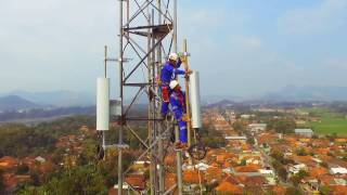 installation BTS,RF Huawei PT.China Comservice Indonesia