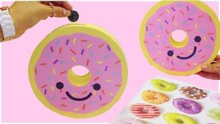 How to make a piggy bank(money box)Donut-DIY Doughnut piggy bank tutorial
