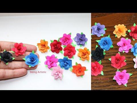 Xxx Mp4 How To Make Small Paper Rose Flower DIY Handmade Craft Paper Craft 3gp Sex