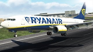 Ryanair Boeing 737 Extreme Hard Landing, The Best of All!! | X-Plane 11