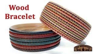Woodturning Wood Bracelet / Wood Texturing / Wood Dying