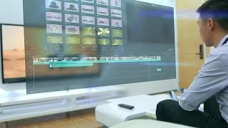 World's Best Video Editor with 3D Hologram Control and Voice Recognition (in future)