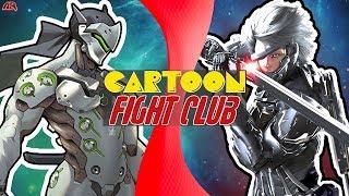 GENJI vs RAIDEN! (Overwatch VS Metal Gear) (Overwatch Animation) | CARTOON FIGHT CLUB