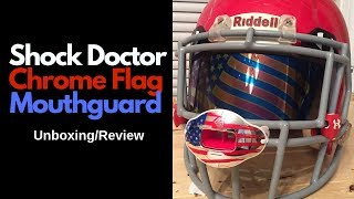 Shock Doctor Chrome Flag Mouthguard Unboxing/Review