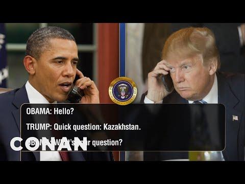 Xxx Mp4 EXCLUSIVE Leaked Audio Of Obama Trump S Phone Calls CONAN On TBS 3gp Sex