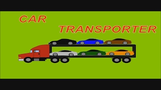 Colors For Children To Learn With Car Transporter - Learn Colors With Street Vehicles