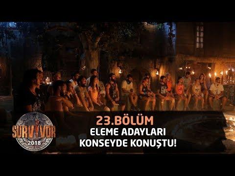 Eleme Adayları Konseyde Konuştu! | 23.Bölüm | Survivor 2018