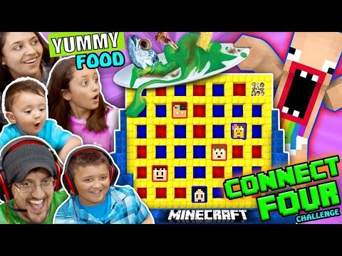 FGTEEV MINECRAFT CONNECT 4 FAMILY GAME NIGHT CHALLENGE LOSERS EAT WEIRD FOOD COMBINATIONS WAGER