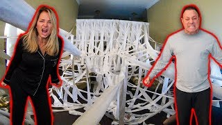 TOILET PAPER PRANK IN PARENTS HOUSE! (SO ANGRY)