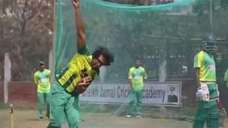 Sk Jamal Cricket practice ahead of match against PBCC