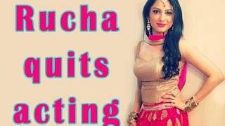 Rucha Hasabnis to quit acting - TOI
