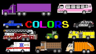 Vehicle Colors - Featuring Street Vehicles - The Kids