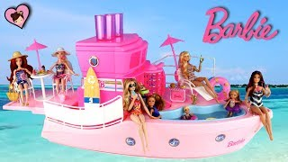 Barbie Doll Pink Dream Boat with Toy Pool -  Chelsea Camping Adventure