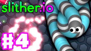 Slither.io - Gameplay Part 4 - ZOOM with SlitherPlus Mods! Biggest Snake: 39,000!