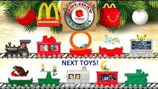 2017 NEXT McDONALD'S HAPPY MEAL TOYS SUPER MARIO HOLIDAY EXPRESS TRAIN MY LITTLE PONY TRANSFORMERS